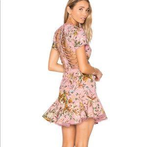 0 Zimmerman Tropicale Lattice Dress in Pink